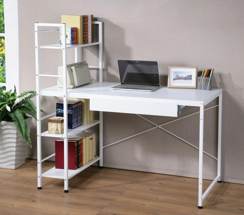 深60公分雙向層架工作桌 書桌 電腦桌  附一抽屜  兩色~馥葉~ DE1230~DR 可