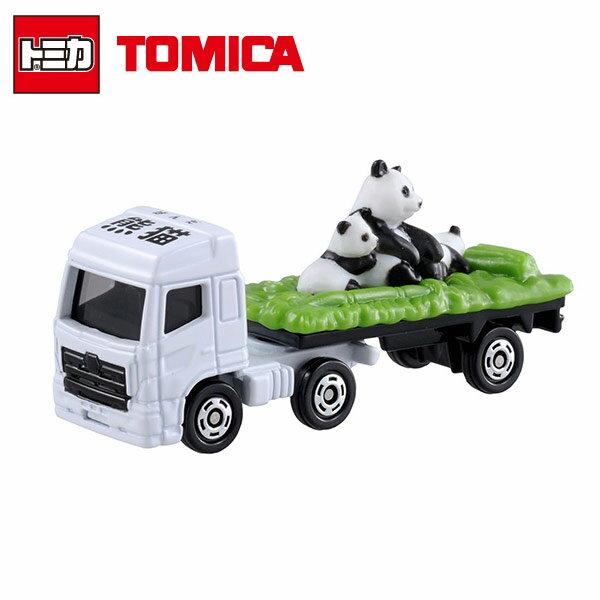 【日本進口】TOMICA 多美小汽車 動物運輸車 熊貓 NO.3 玩具車 - 438908