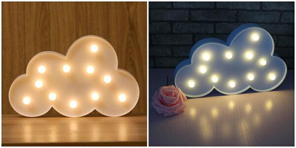 X射線 精緻禮品:X射線【C220006】LED造型夜燈-雲朵(藍白2色選1),電池燈蠟燭佈置裝飾擺飾夜燈桌上裝飾道具交換禮物