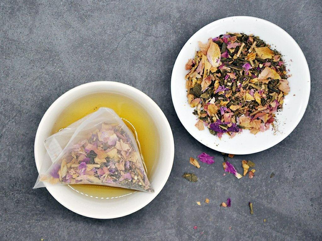 精選台灣好茶 - 冷泡茶立體茶包系列,  玫瑰油切綠茶,  21 入/ 袋