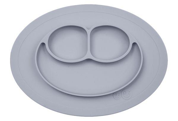 美國 EZPZ HAPPY MAT MINI 迷你餐盤/餐具/安全/無毒/矽膠 星塵灰