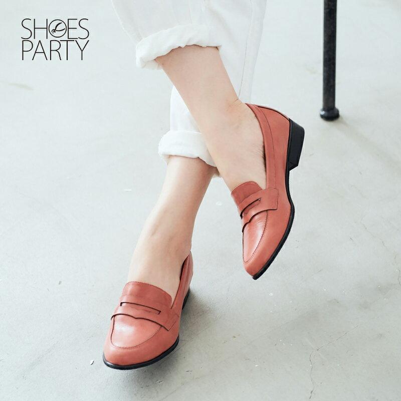 【 P2-17120L 】經典真皮樂福鞋_Shoes Party 2