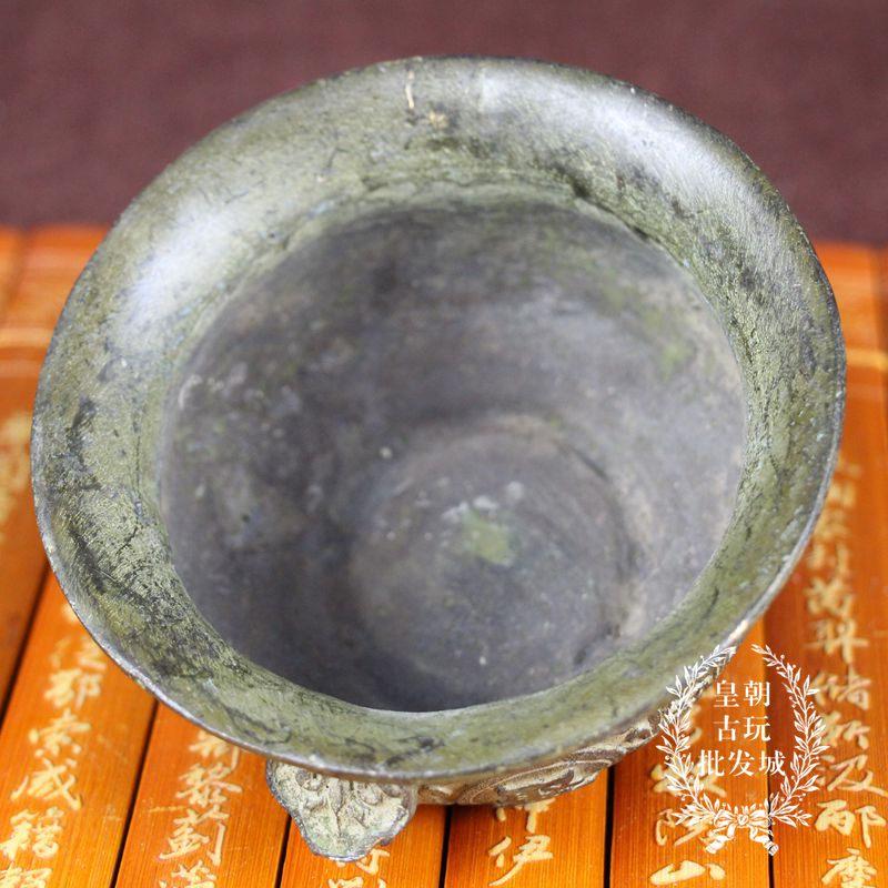 促銷新品仿古銅盆子老古董物件古玩純銅雜項銅器收藏 聚寶盆香爐