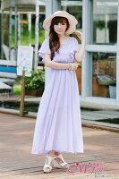 時尚洋裝 小禮服推薦到[瑪嘉妮Majani]- 甜美 氣質 大尺碼小禮服 伴娘服 沙灘裙  L~3XL 特價790元 免運 ds-032