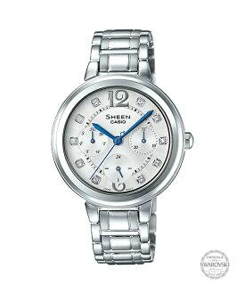 CASIO SHEEN SHE-3048D-7A古典時尚腕錶/白色34mm