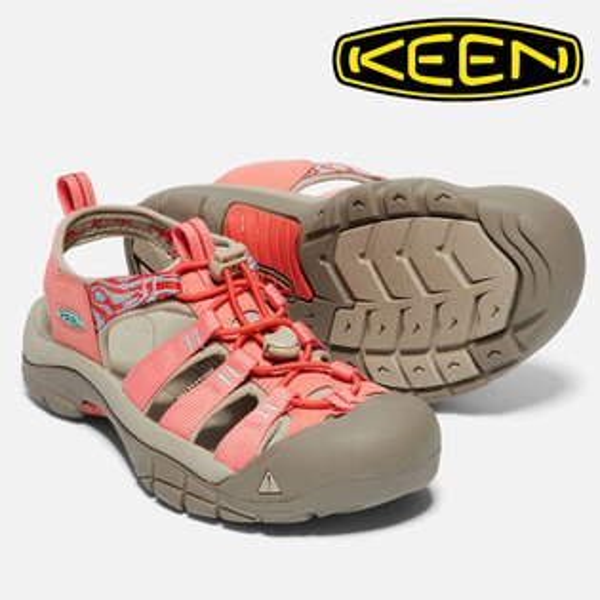 【Keen美國】NEWPORTHYDRO越野護趾涼鞋運動涼鞋粉橘橘女款/1018830