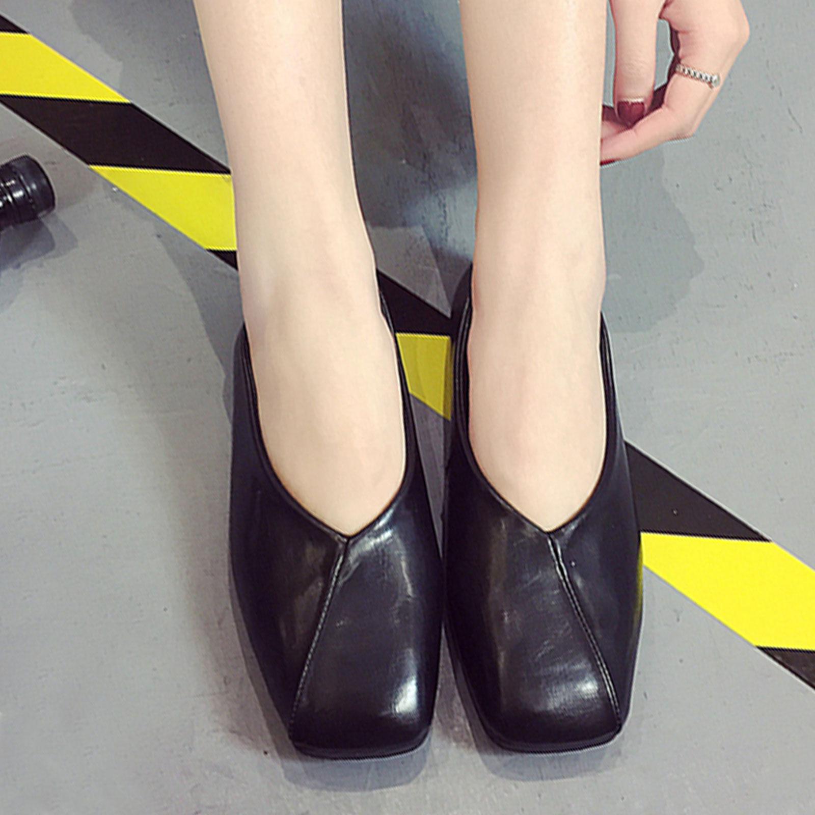 懶人鞋 奶奶鞋 韓版復古淺口方頭懶人鞋【S1681】☆雙兒網☆ 0