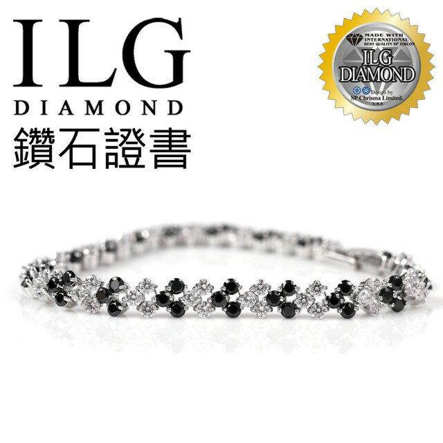 【ILG鑽】頂級八心八箭擬真鑽石手鍊-超美密鑽個性愛心款手鍊 BR029 可愛女孩禮物犒賞自己