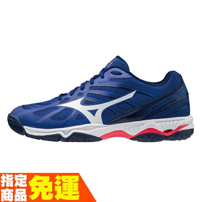 MIZUNO WAVE HURRICANE 3 男款排球鞋 V1GA174020 藍 贈運動襪 20FW