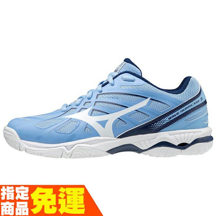 MIZUNO WAVE HURRICANE 3 女款排球鞋 V1GC174029 水藍 贈運動襪 20FW