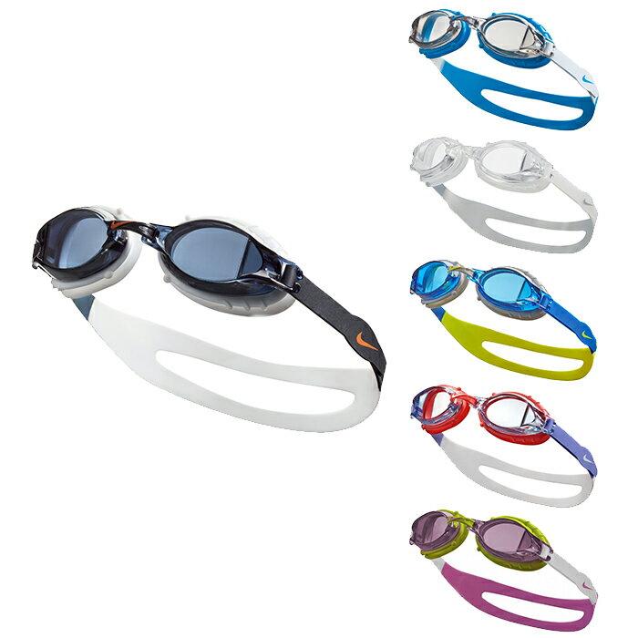 樂買網 NIKE Chrome 訓練型兒童泳鏡 蛙鏡 抗UV 防霧鏡片 NESSA188