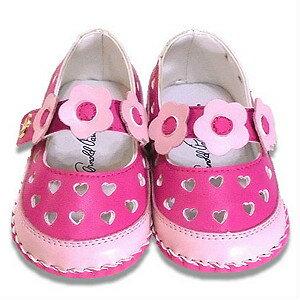 【錢豪童裝童鞋】ArnoldPalmer 雨傘牌小花寶寶學步涼鞋 桃