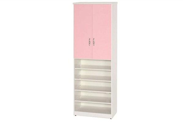 【石川家居】880-04(粉紅白色)鞋櫃(CT-320)#訂製預購款式#環保塑鋼P無毒防霉易清潔