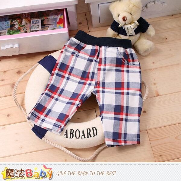 男童裝 格紋短褲 魔法Baby~k50004
