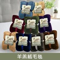 【名流寢飾家居館】羊羔絨.法蘭絨.素色雙面毯.機能保暖毛毯.150X200cm-名流精品寢具生活館-居家特惠商品