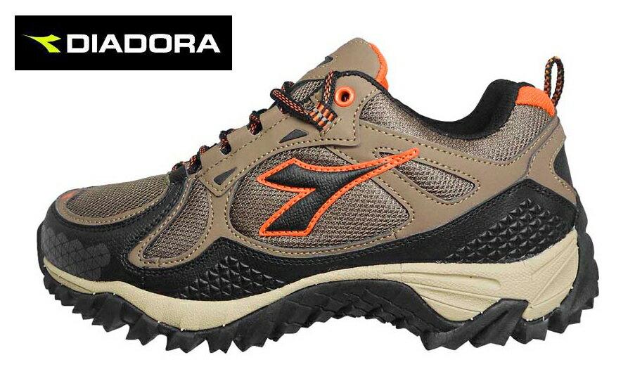 【巷子屋】義大利國寶鞋-DIADORA迪亞多納 男款強化包覆抗水戶外越野跑鞋 [3901] 咖啡 超值價$966