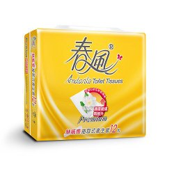 春風柔韌感抽取衛生紙110抽*12包【愛買】