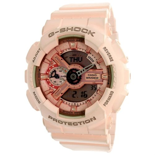 Women's Casio G-Shock Pink Analog Digital Watch GMAS110MP-4A1 0