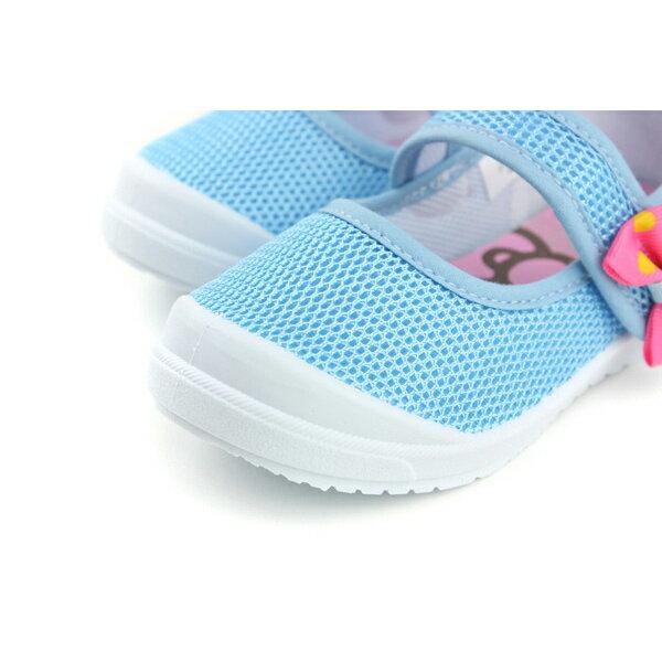 Hello Kitty 凱蒂貓 娃娃鞋 網布 水藍 中童 童鞋 718622 no759 3