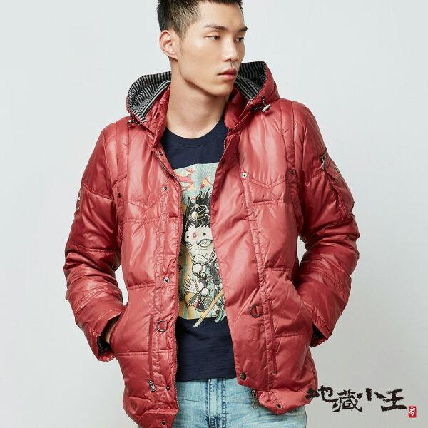【秋冬精選】拉鍊穿脫袖鋪棉外套(紅)-BLUEWAYJIZO地藏小王