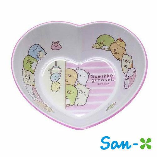 粉紅款【日本進口正版】San-X 角落生物 角落公仔 造型碗 塑膠碗 沙拉碗 水果碗 - 420079