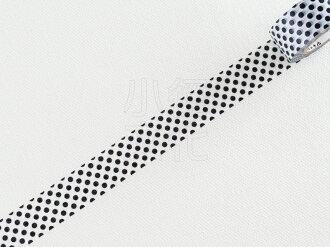 *小徑文化*日本進口 Mark`s maste BASIC 系列和紙膠帶 - 水玉 黑 ( MST-MKT40-BK )