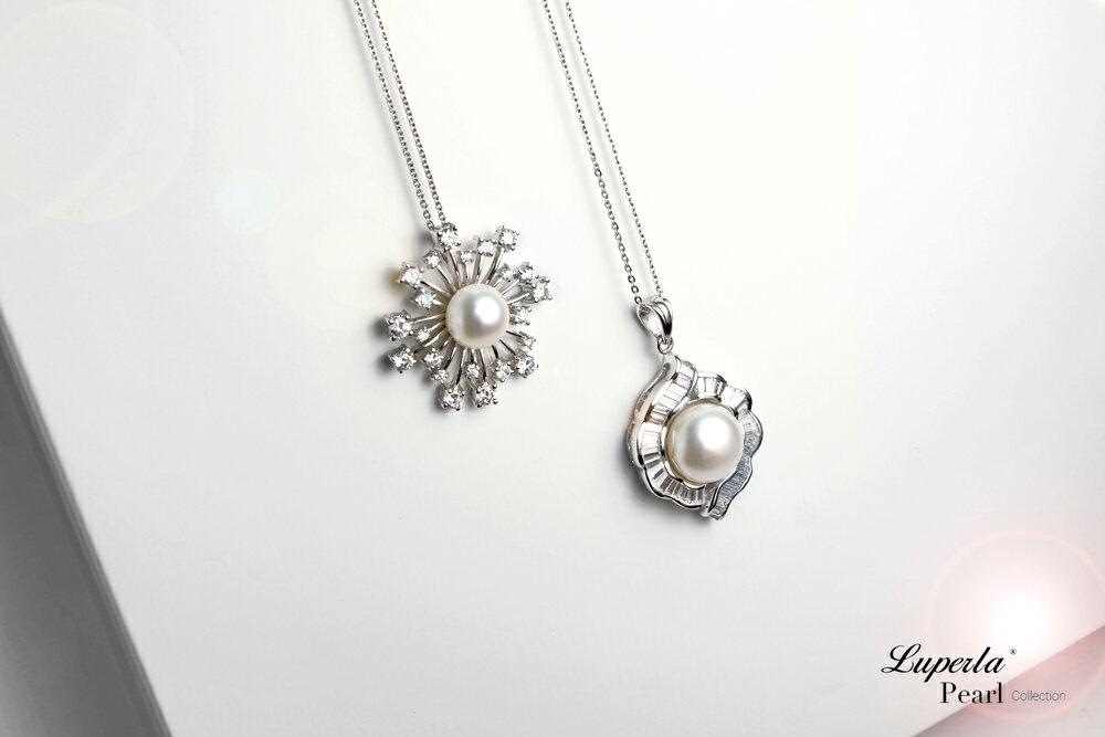 大東山珠寶  永恆典範  天然珍珠925銀項鍊 7