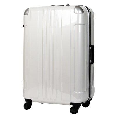 日本 LEGEND WALKER 6012-60-25吋 鋁框輕量行李箱 碳纖白
