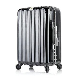 日本 LEGEND WALKER 6201-55-23吋 鋁框輕量行李箱 內斂黑