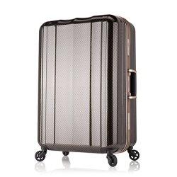 日本 LEGEND WALKER 6702-70-29吋 鋁框超輕量行李箱 碳纖黑
