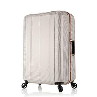 日本 LEGEND WALKER 6702-64-26吋 鋁框超輕量行李箱 碳纖白