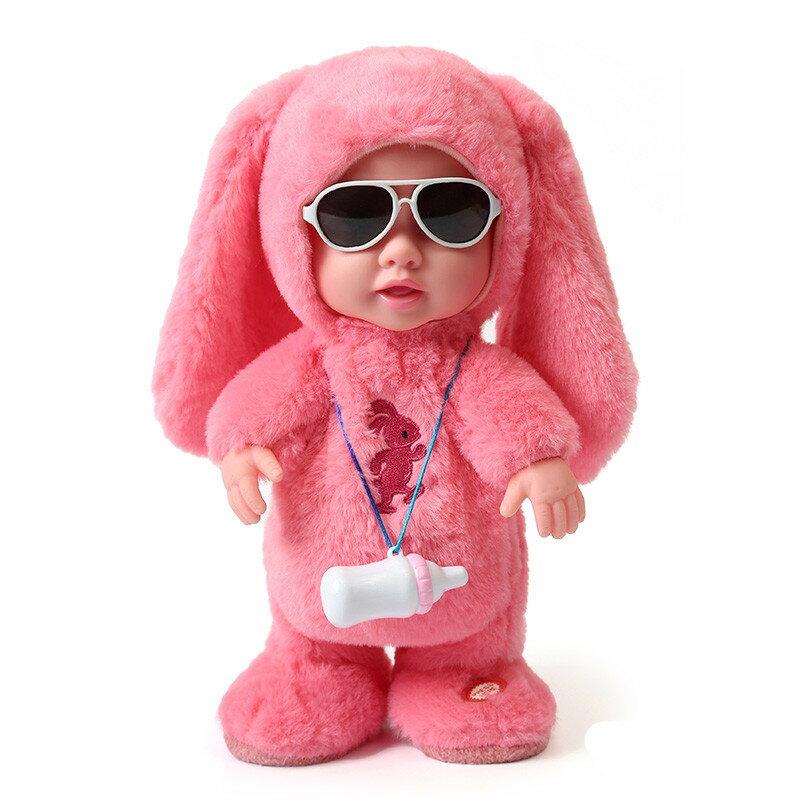 兒童電動毛絨娃娃動物會唱歌跳舞的走路說話【免運】