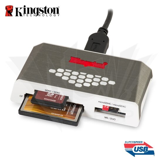Kingston 金士頓 USB3.0 高速多合一讀卡機 (FCR-HS4)