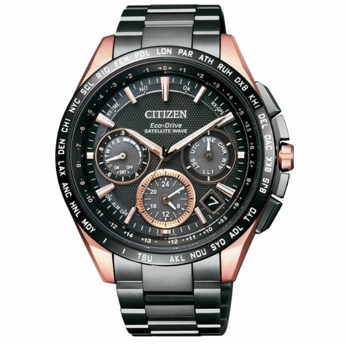 CITIZEN星辰CC9016-51E金城武廣告款鈦金屬GPS衛星對時光動能腕錶/黑金44mm