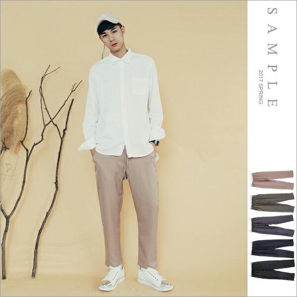 sample:現貨韓國製西裝褲極輕量鬆緊褲頭【PL18107】-SAMPLE