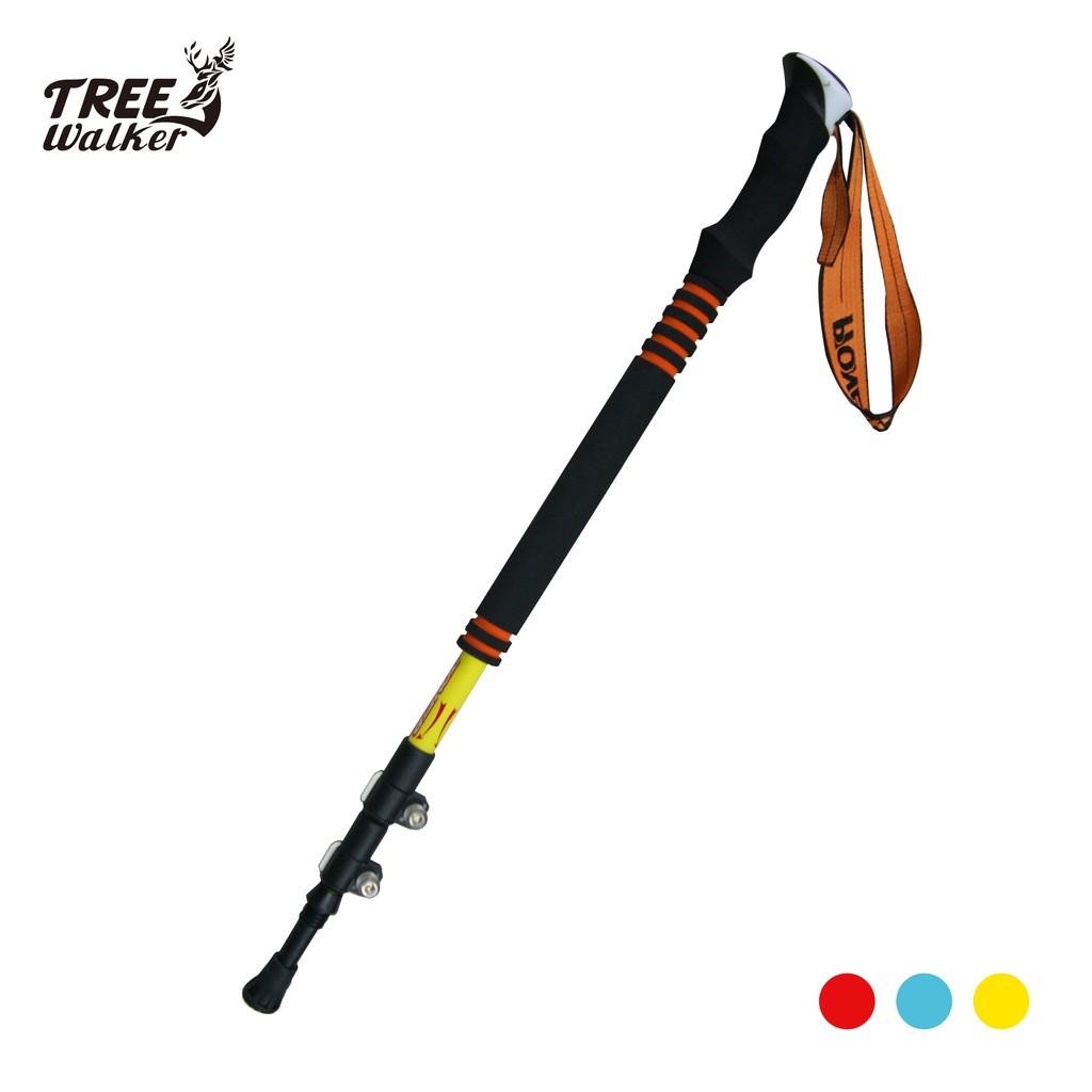 【Treewalker露遊】開拓者碳纖維長握把登山杖 pioneer 超輕量登山助力杖 高質感 優質登山健走杖