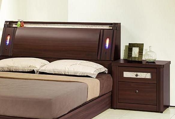 【尚品家具】406-01 濱崎 胡桃2尺床頭櫃/收納櫃/置物櫃