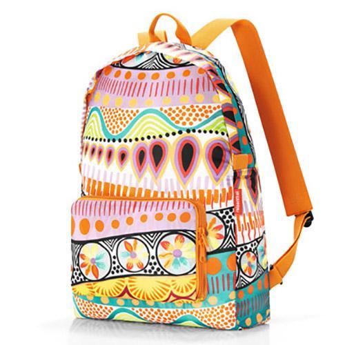德國品牌-時尚可摺疊收納後背包-橘色繽紛 0
