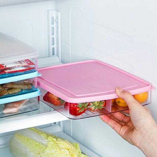 ?MY COLOR?分隔式帶蓋保鮮盒 密封 透明 冷藏 去味 冰箱 儲藏 食材 新鮮 水果 海鮮【L128-1】