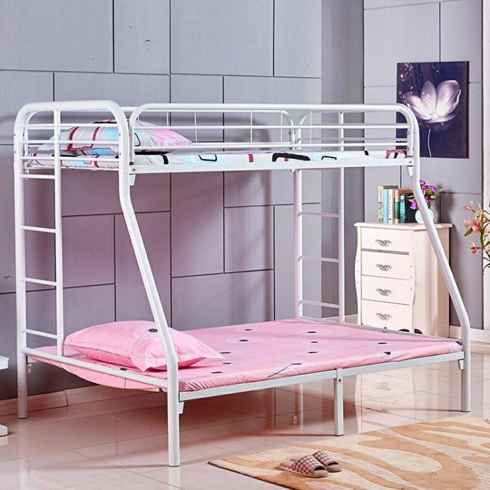樓閣高架床高低上下床雙層床鐵架子床子母床鐵床雙人床 【限時特惠】 LX