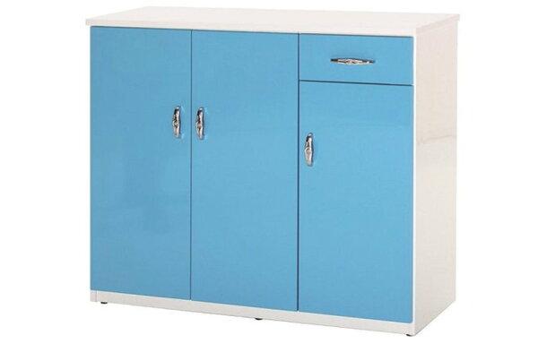 【石川家居】863-02(藍白色)鞋櫃(CT-314)#訂製預購款式#環保塑鋼P無毒防霉易清潔