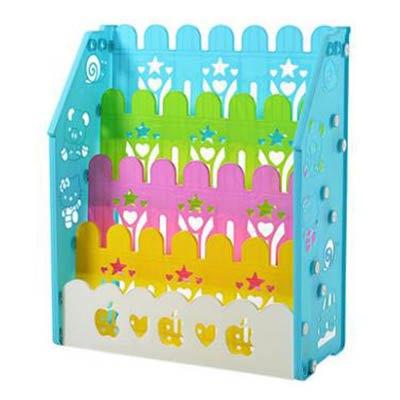 【四層兒童書架-67*31*80cm-1套  組】寶寶書架簡易幼稚園圖書架小孩塑膠卡通繪本架-7701006