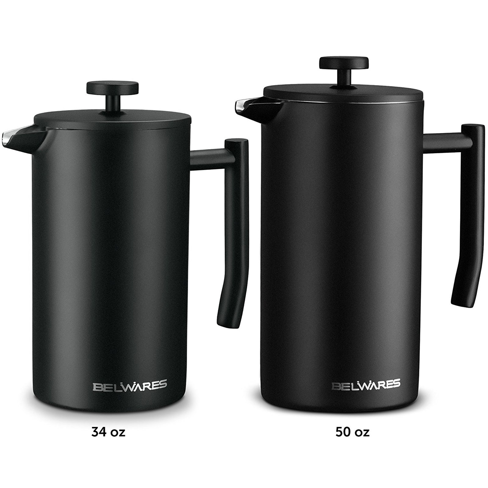 Belwares Large French Press Coffee Maker With Extra Filters 0