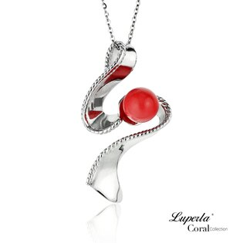 大東山珠寶 luperla:大東山珠寶一飛衝天全紅珊瑚項鍊墜飾