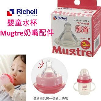 【寶貝樂園】Richell Mugtre水杯奶嘴配件(一階)