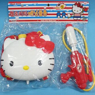 Hello Kitty凱蒂貓背包水槍 後背式水槍 韓版正版授權槍長32cm/一個入{促799}可背式動物造型 加壓式強力水槍~佳
