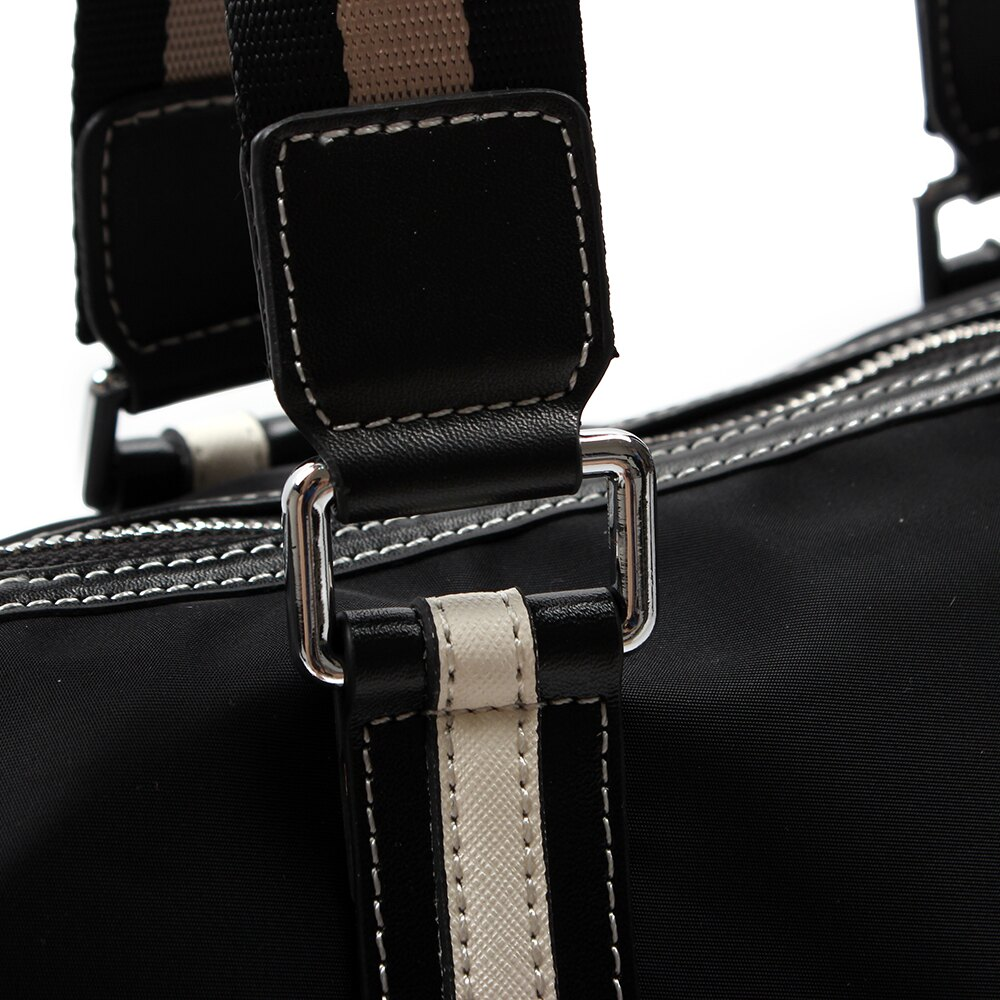 【BEIBAOBAO】韓風潮流防水布配真皮兩用包 7