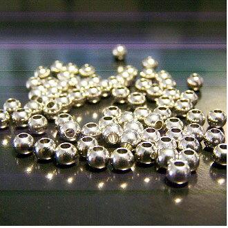 保色銀珠 4mm DIY項鍊/手鏈圓珠配件 - 限時優惠好康折扣