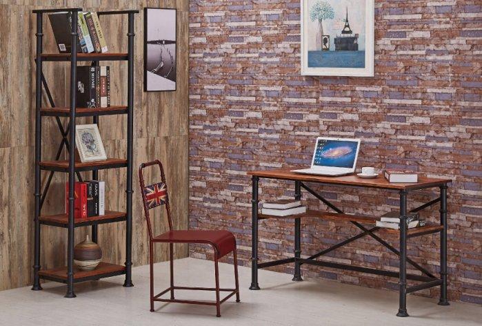 【尚品傢俱】JF-355-2  安格斯4尺工業風書桌