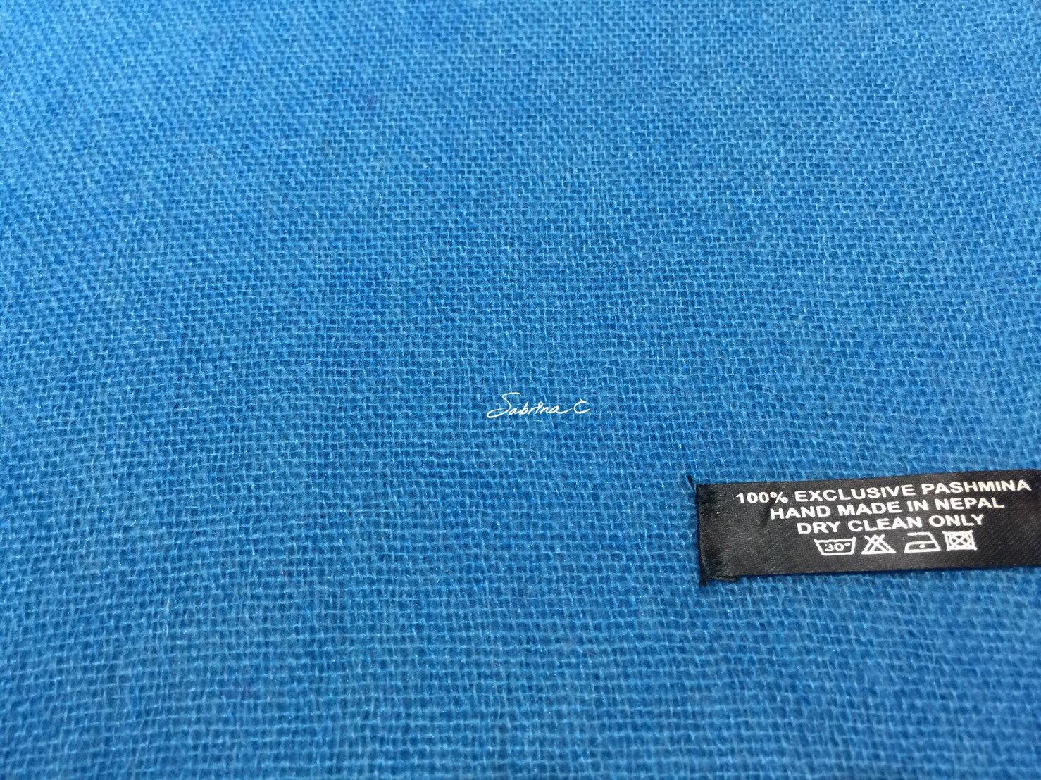 Cashmere薄織圍巾^(土耳其藍^)^(16088^)